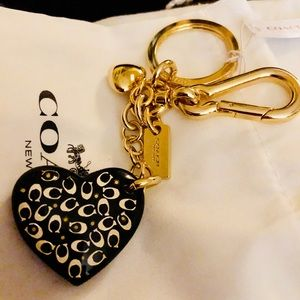 Coach Sprinkle Signature Heart Bag charm